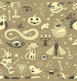 vintage halloween seamless pattern vector image
