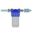 water purification filter pipe connection vector image vector image