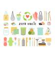 zero waste items vector image vector image