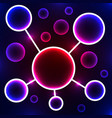 abstract molecule stylized atom scientific vector image