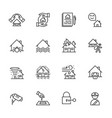 house property insurance of thin line icons for vector image