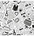 wedding - seamless pattern vector image