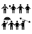 A set of stick figures vector image vector image