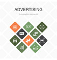 advertising infographic 10 option color design vector image vector image