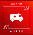 ambulance symbol icon vector image