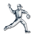 baseball player icon vector image vector image