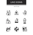 beauty spa - set line design style icons vector image vector image