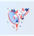 big electronic megaphone or bullhorn tiny people vector image vector image