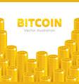bitcoin rising stacks vector image vector image