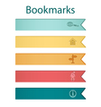 Bookmark icons autumn vector image