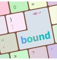 bound button on computer pc keyboard key vector image vector image