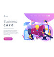 brand identity concept landing page vector image vector image