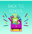 bright colorful back to school poster vector image vector image