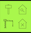 buildings ans construction simple linear outline vector image