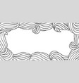 card design with waves background with sea river vector image vector image