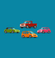 cars set icons vehicle automobile garage vector image vector image