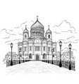 cathedral of christ the saviour in moscow russia vector image