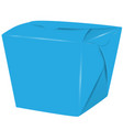 closed asian food box vector image
