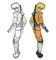 color ninja vector image vector image