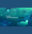 colorful geometric background pattern fluid vector image