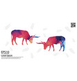colorful texas longhorn and tropical leaf pattern vector image