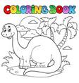 coloring book dinosaur scene 1 vector image vector image
