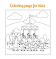 Coloring page for kids amusement park vector image vector image