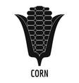 corn icon simple style vector image
