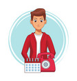 customer service cartoons vector image vector image