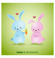 Cute Animals Collection Love is all around 2 vector image vector image