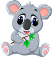 cute koala cartoon vector image vector image