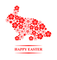 easter flower hare vector image vector image