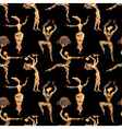 Ethnic seamless texture with figures of dancing pe vector image vector image