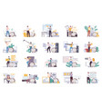 file types icon set vector image