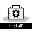 first aid kit briefcase to healthcase vector image vector image
