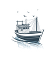 Fishing boat 2 vector image