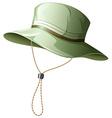 Fishing hat vector image vector image