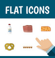 flat icon eating set of cookie eggshell box vector image vector image