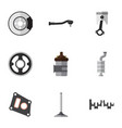 flat icon parts set of gasket conrod belt and vector image vector image