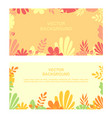 flat minimal background with plant vector image vector image