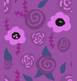 floral seamless background of flax plant vector image vector image