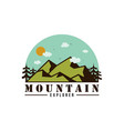 forest mountain adventure explore logo vector image vector image