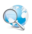 Global search glossy icon vector image vector image