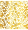 Golden On White Abstract Grunge Bubbles vector image vector image