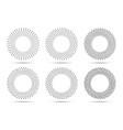 halftone circle dotted frames set dots logo vector image vector image