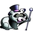 hand-drawn an panda bear vector image