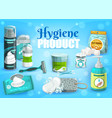 hygiene products man and woman personal care vector image
