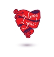 I love you Design Template for your design vector image vector image