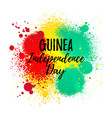 independence day of guinea grungy banner hand vector image