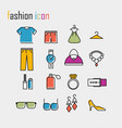 line icons fashion icon modern infographic logo vector image vector image